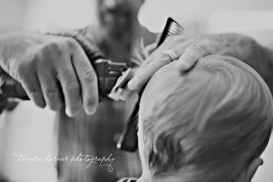 boy's first hair cut, mckinney tx family photography