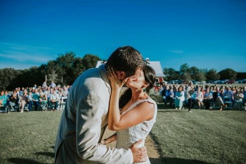 first kiss wedding photography