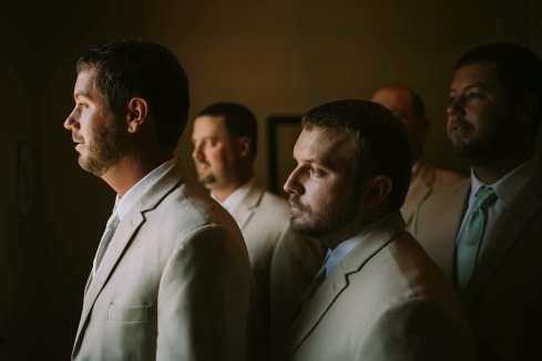 groom and groomsmen  dallas wedding photographers